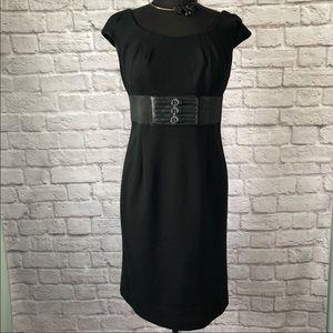 Adrianna Papell Black Sheath Dress